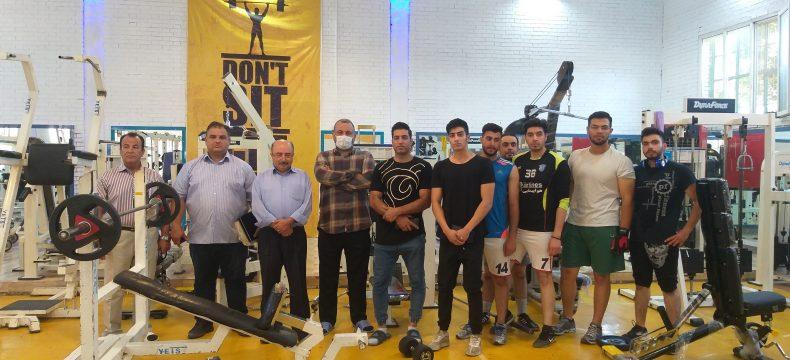 بازدید رئیس هیات بدنسازی و پرورش اندام آذربایجان شرقی از سالنهای بدنسازی شهرستان مراغه